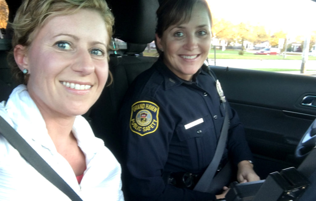 The ride along was totally fun and we got along great. Officer Roels is even planning to buy my books for her daughter!